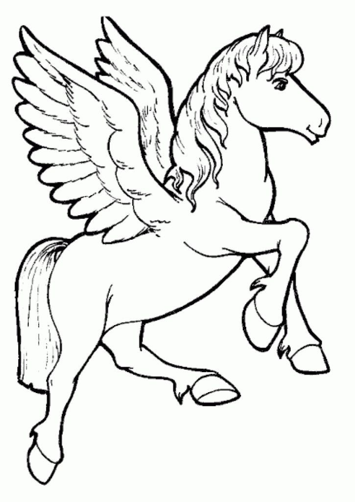 Unicorn Coloring Pages For Girls  Flying Unicorn Coloring Pages Coloring Home