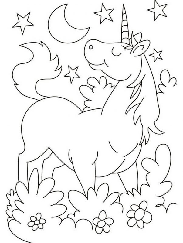 Unicorn Coloring Pages For Girls  Unicorn Coloring Pages Printable