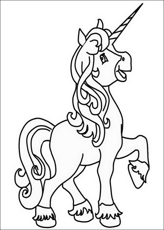 Unicorn Coloring Pages For Girls  Unicorn girl coloring page