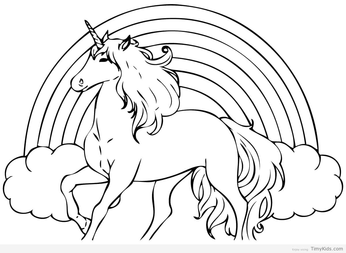 Unicorn Coloring Pages For Girls  Unicorn coloring pages