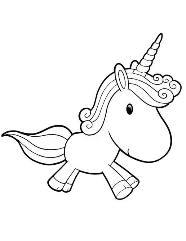 Unicorn Coloring Pages For Girls  Unicorn A Lovely Unicorn Toy Doll for Girl Coloring