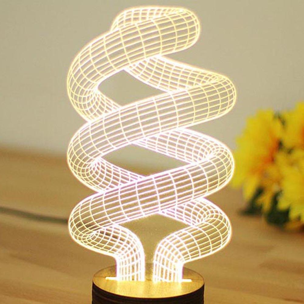 Best ideas about Unique Desk Lamps . Save or Pin Novelty Unique 3D Illusion Bulb Lamp Night Light USB Table Now.