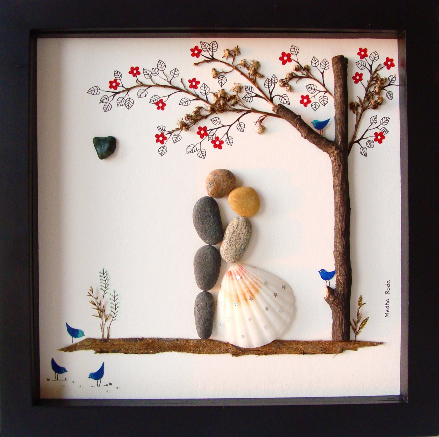 Unusual Wedding Gift Ideas  Unique WEDDING Gift Customized Wedding Gift Pebble Art Unique