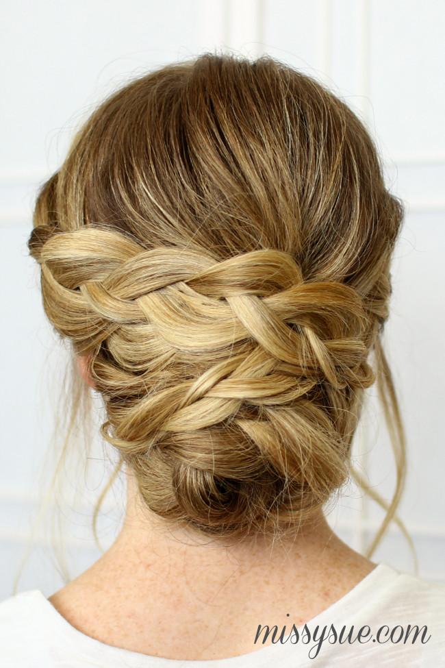 Updo Braid Hairstyles  Soft Braided Updo