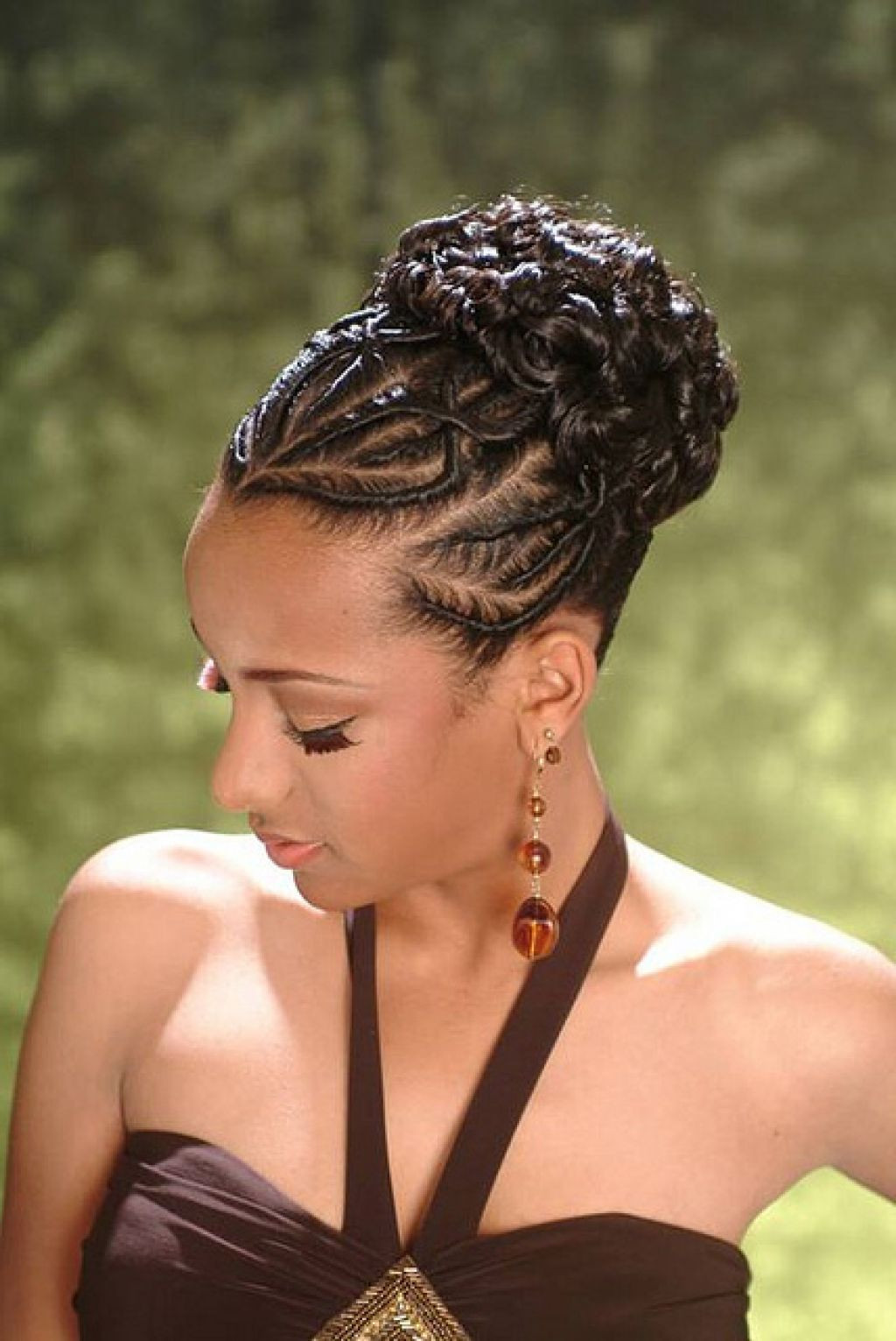 Updo Braid Hairstyles  African American French Braid Updo Hairstyles