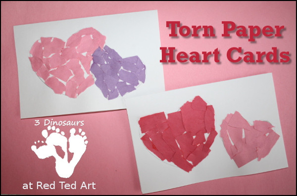 Valentine Card Ideas For Preschoolers  Valentine s Cards For Tots Paper Hearts Red Ted Art s Blog
