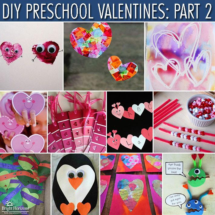 Valentine Card Ideas For Preschoolers  DIY Preschool Valentines Gifts