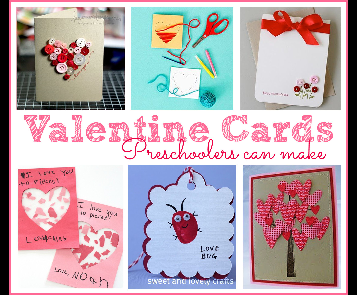 Valentine Card Ideas For Preschoolers  Preschool Ponderings Valentine s Day Ideas