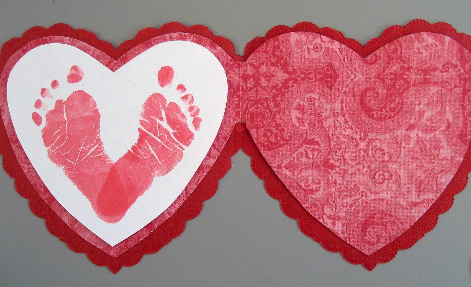 Valentine Card Ideas For Preschoolers  Preschool Crafts for Kids Valentine s Day Footprint Card