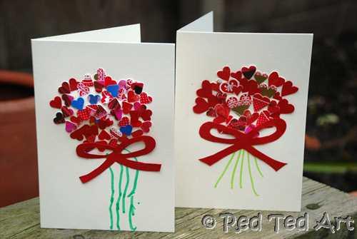 Valentine Card Ideas For Preschoolers  Kids Craft Valentine s Handprints & Cards Red Ted Art s