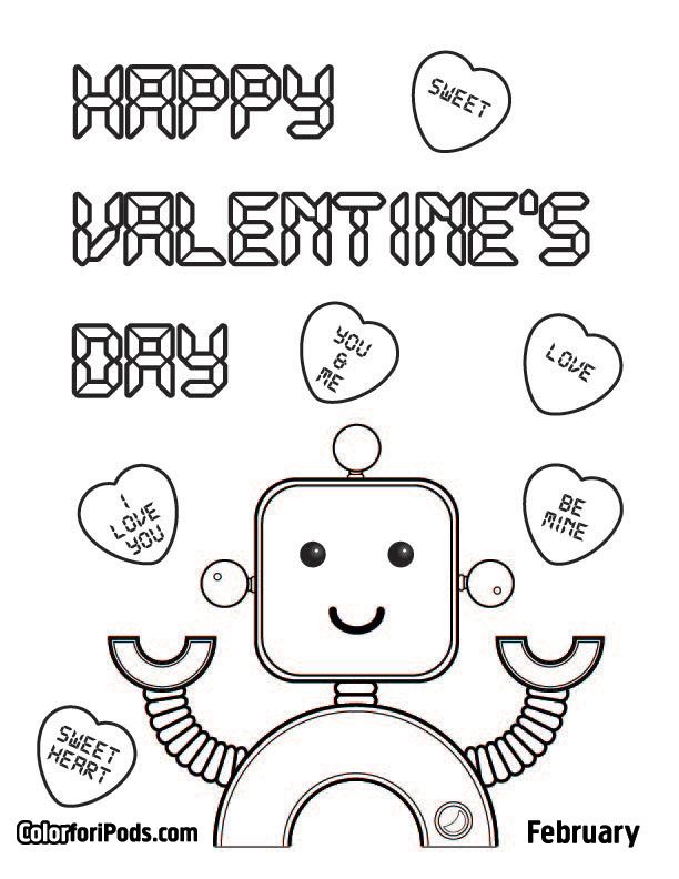 Valentine Coloring Pages For Boys  Valentine Boy And Girl Free Colouring Pages