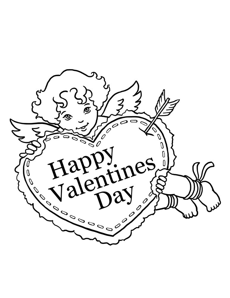 Valentine Coloring Pages For Kids Printable  Free Printable Valentine Coloring Pages For Kids