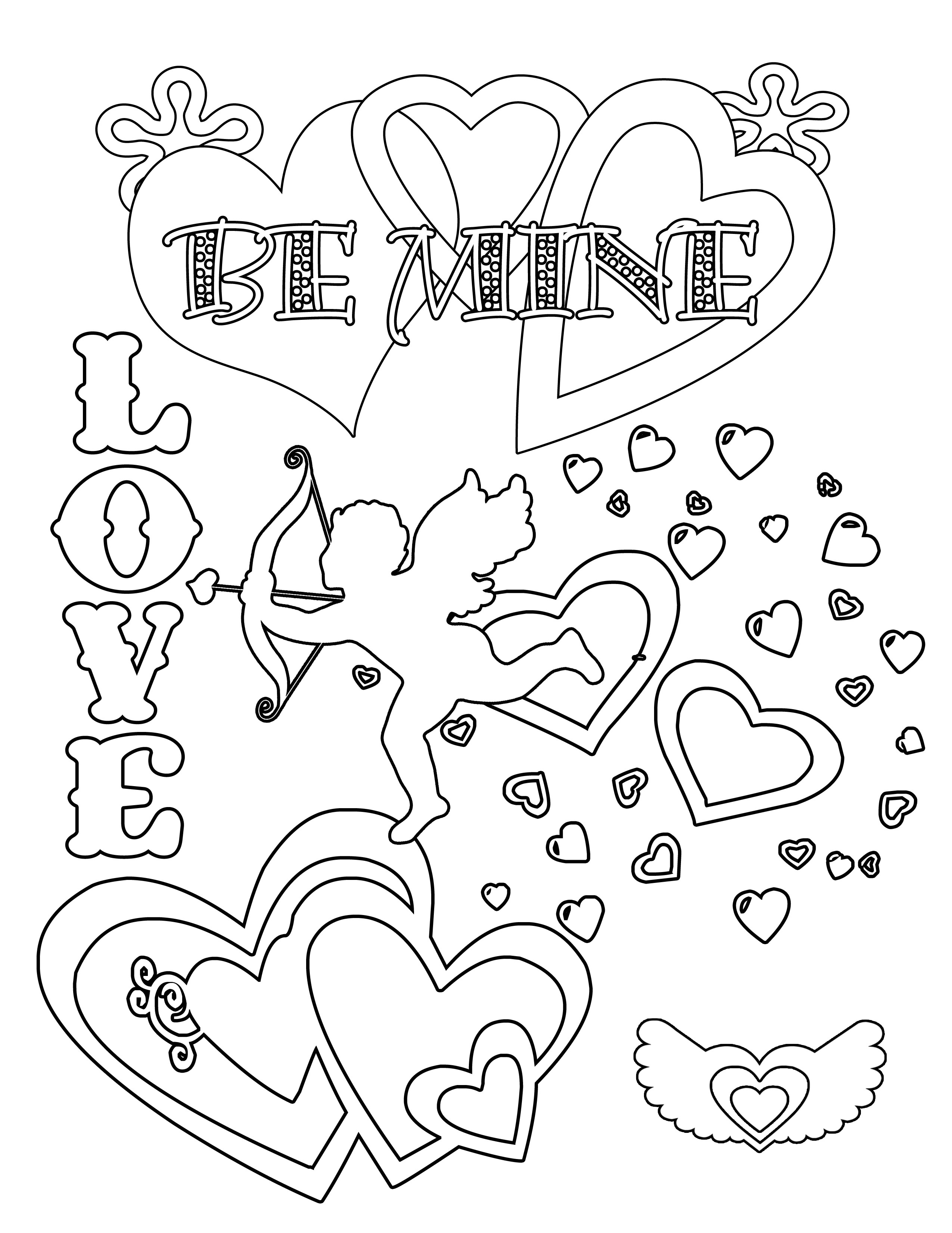 Valentine Coloring Sheets Free  Valentine Coloring Pages Best Coloring Pages For Kids
