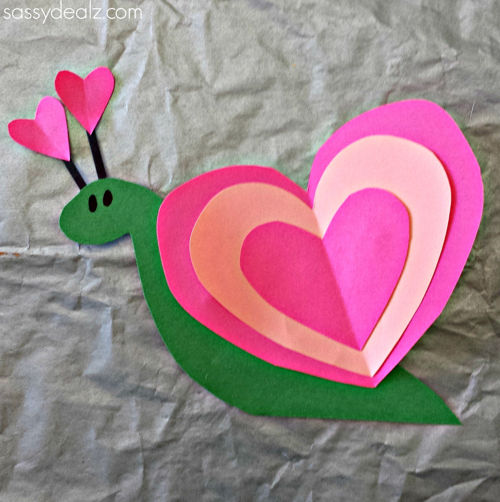 Valentine Craft Ideas For Preschoolers  Heart Snail Craft For Kids Valentine Art Project