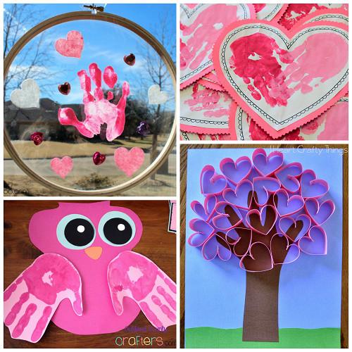 Valentine Craft Ideas For Preschoolers  Valentine s Day Handprint Craft & Card Ideas Crafty Morning