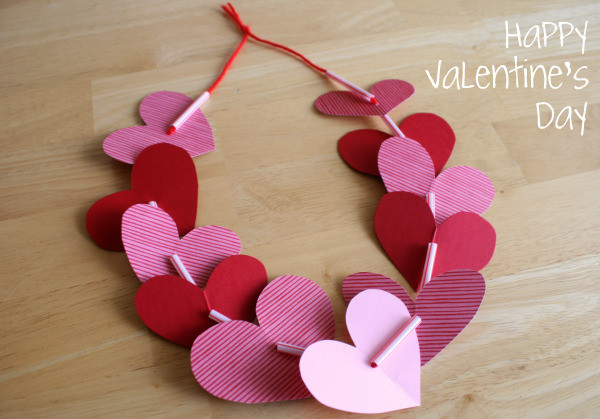 Valentine Craft Ideas For Preschoolers  Preschool Crafts for Kids Valentine s Day Heart Necklace