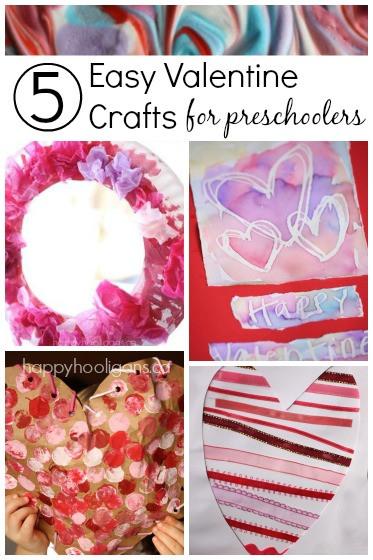 Valentine Craft Preschoolers  5 More Easy Valentine Crafts for Toddlers Happy Hooligans