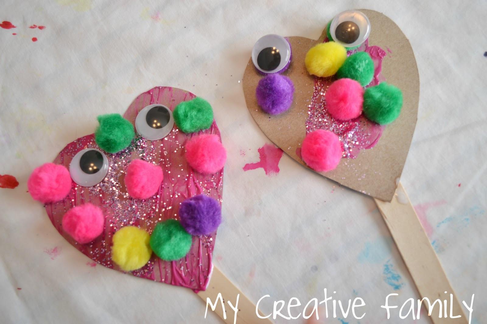 Valentine Craft Preschoolers  Valentine s Day Heart Puppets Craft