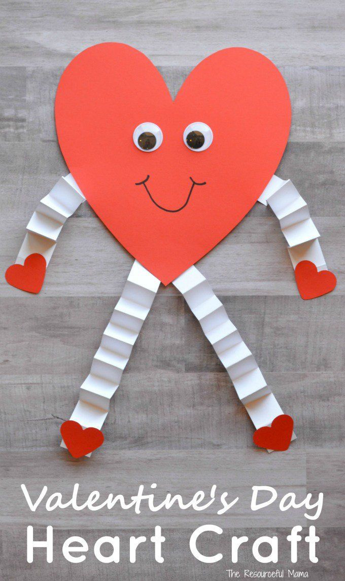 Best ideas about Valentine Crafts For Preschoolers To Make . Save or Pin Valentine s Day Heart Craft for Kids Now.