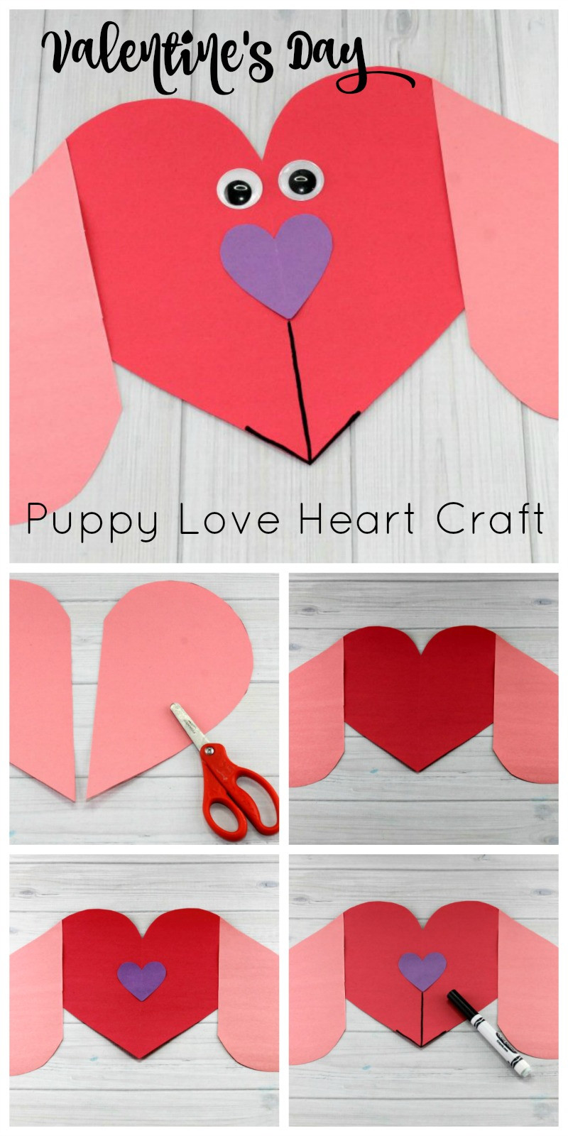 Best ideas about Valentine Crafts For Preschoolers To Make . Save or Pin Puppy Love Preschool Heart Craft to Make this Valentine s Day Now.
