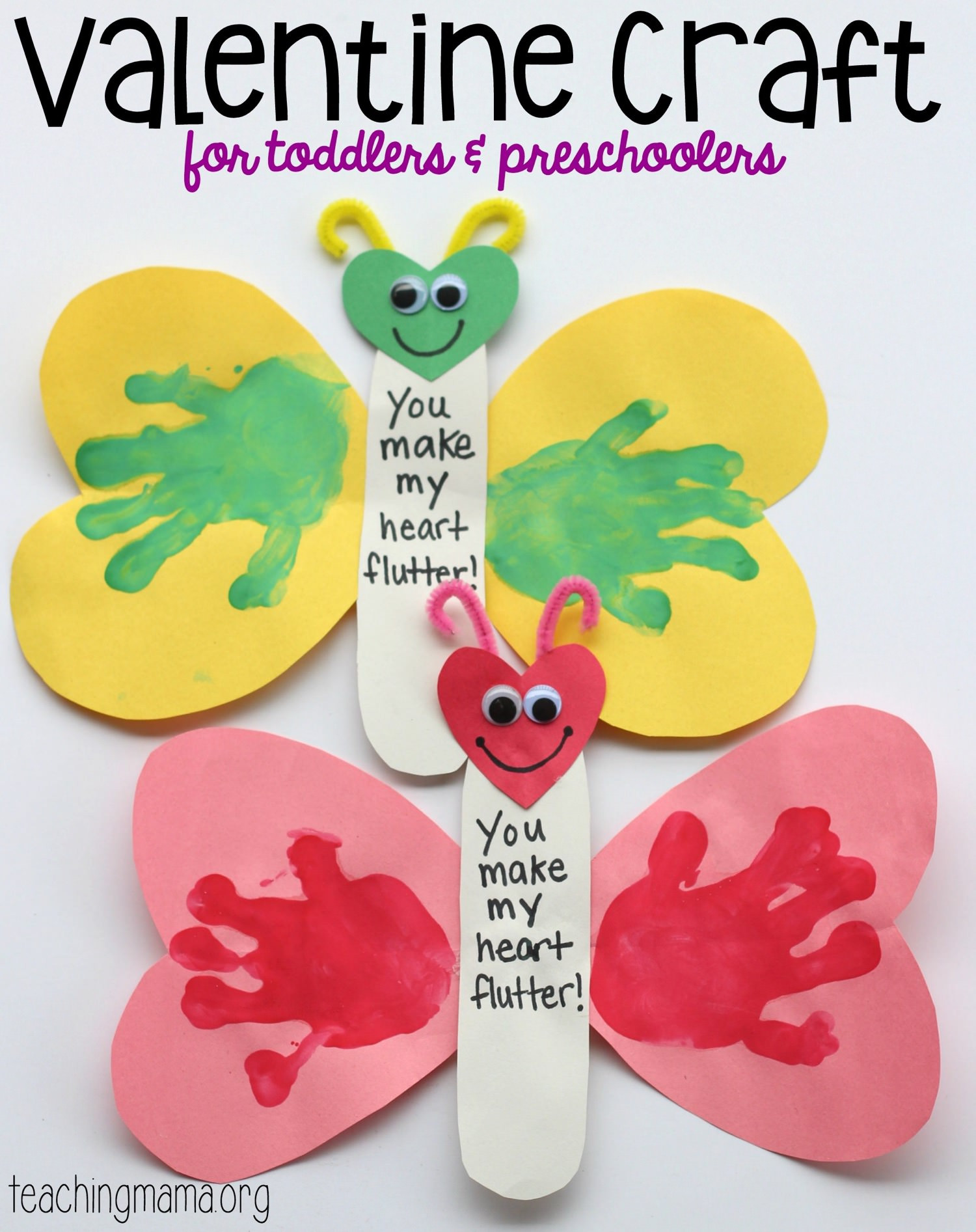 Best ideas about Valentine Crafts For Preschoolers To Make . Save or Pin You Make My Heart Flutter Valentine Craft Now.