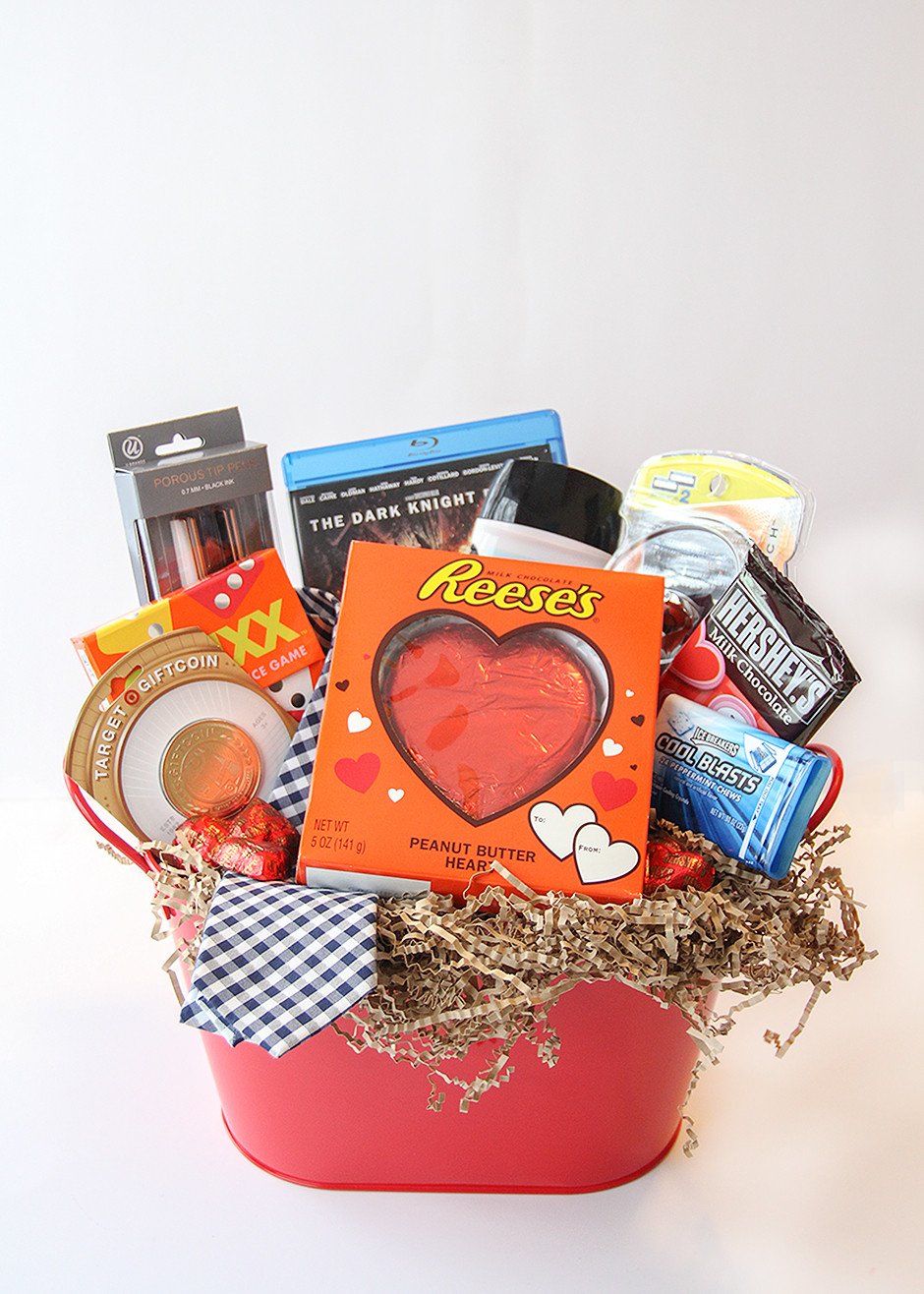 Valentine Day Gift Baskets Ideas  Valentine s Day Gift Basket For Him Busy Mommy