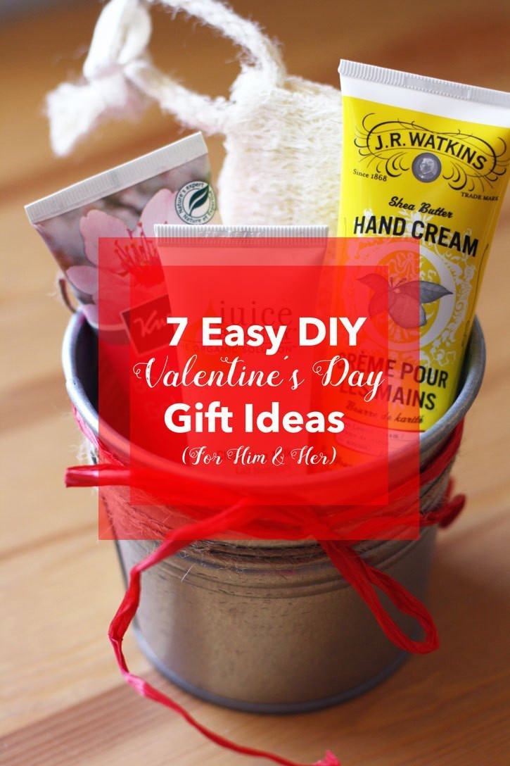 Valentine Day Gift Ideas For Him  7 Easy DIY Valentine's Day Gift Ideas For Him & Her