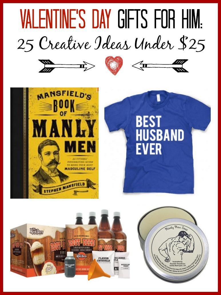 Valentine Day Gift Ideas Him  Valentine s Gift Ideas for Him 25 Creative Ideas Under $25