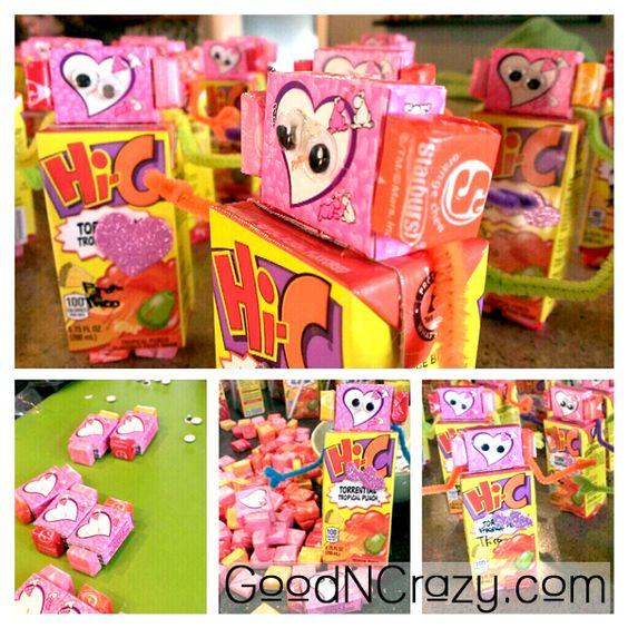 Valentine Gift Ideas For Kids  Robot DIY Valentine t idea Easy but not super cheap