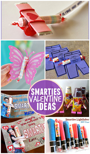 Valentine Gift Ideas For Kids  Valentine Ideas for Kids Using Smarties Candy Crafty