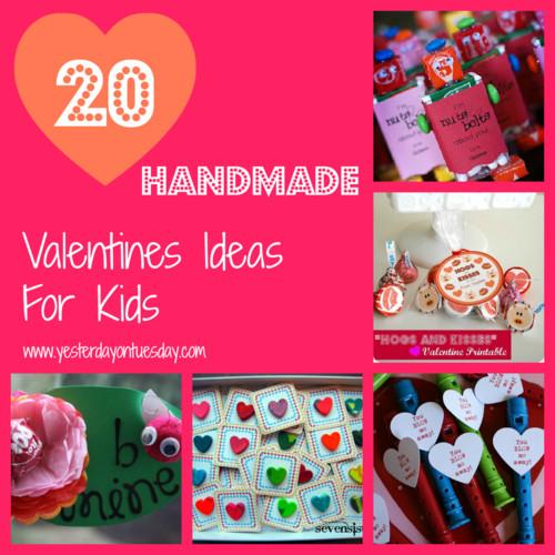 Valentine Gift Ideas For Kids  20 Handmade Valentines for Kids
