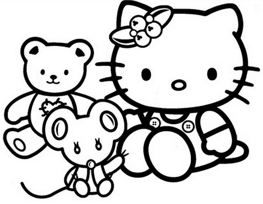Valentine'S Day Coloring Pages For Kids  Free Hello Kitty Coloring Pages Valentine The Color Panda