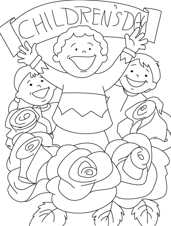 Valentine'S Day Coloring Pages For Kids  Childrens Day Coloring Pages