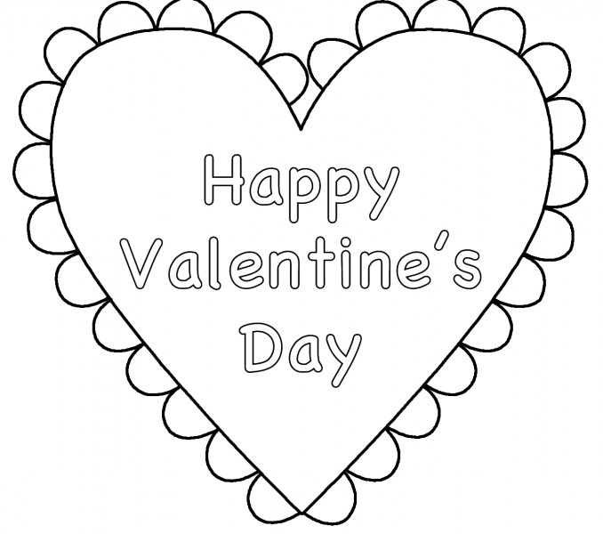 Valentine'S Day Coloring Pages For Kids  Happy Valentines Day Coloring Pages Best Coloring Pages