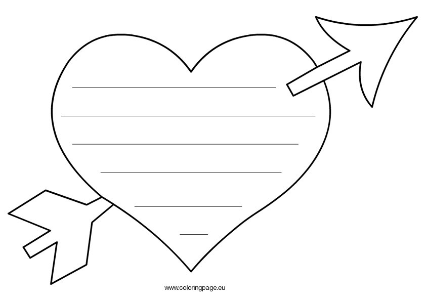 Valentine'S Day Coloring Pages For Kids  56 Heart Shape Coloring Pages Heart Shape Colouring Pages