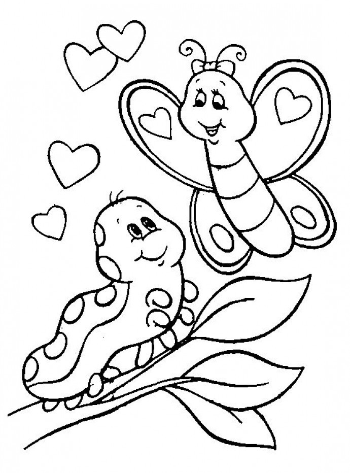 Valentine'S Day Coloring Pages Printable  20 Wonderful Printable Valentines Colouring pages for kids