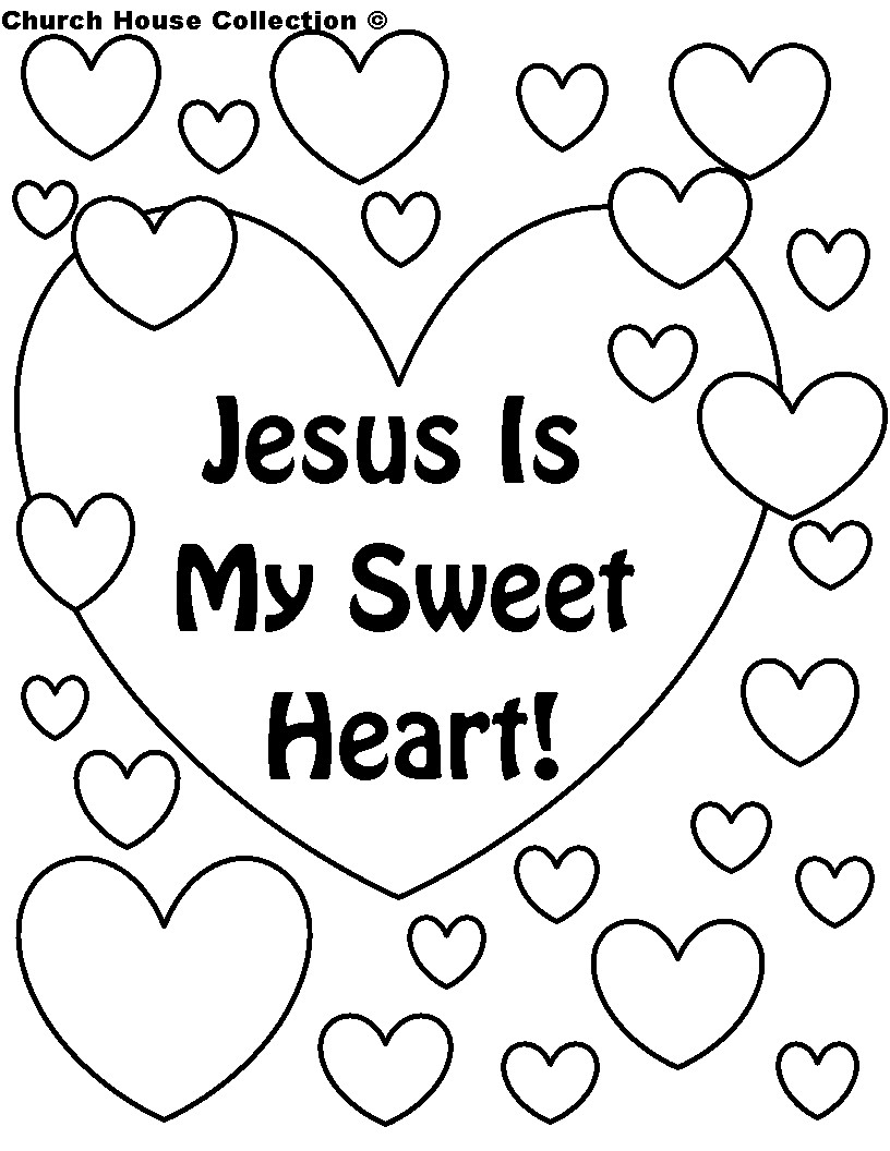 Valentine'S Day Coloring Pages Printable  Christian Valentines Day Coloring Pages Printable 99