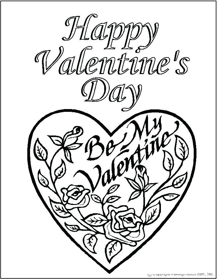 Valentine'S Day Coloring Pages Printable  Valentine Day Coloring Free Printable Pages Sheets Plus