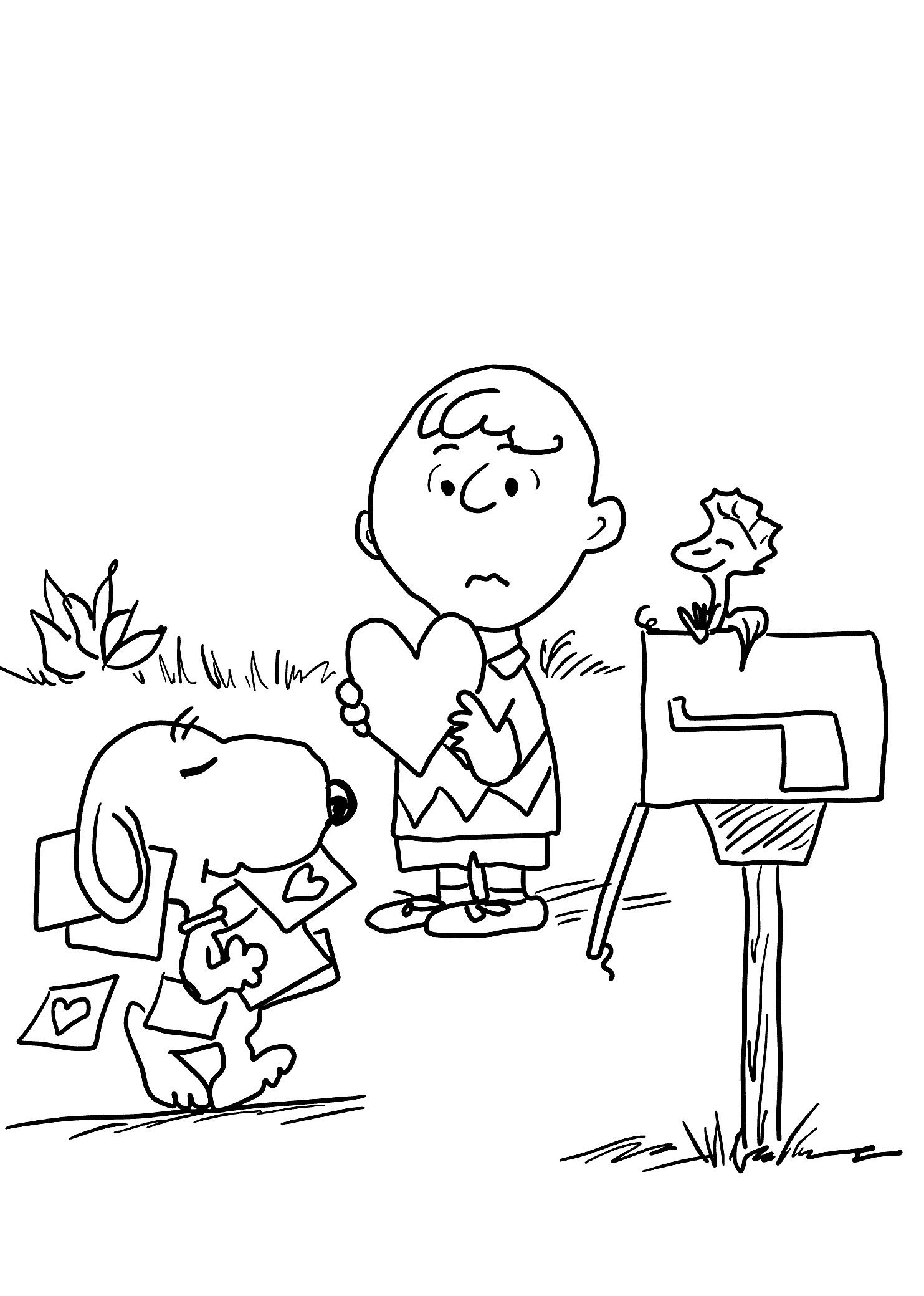 Valentine'S Day Coloring Pages Printable  Snoopy Valentines Coloring Pages Download