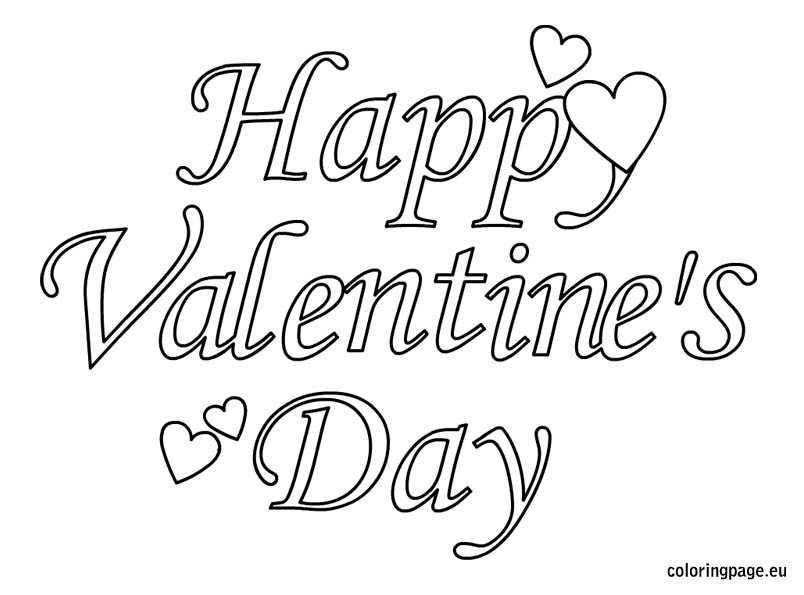 Valentine'S Day Coloring Pages Printable  Happy Valentines Day Printable Coloring Pages Valentine