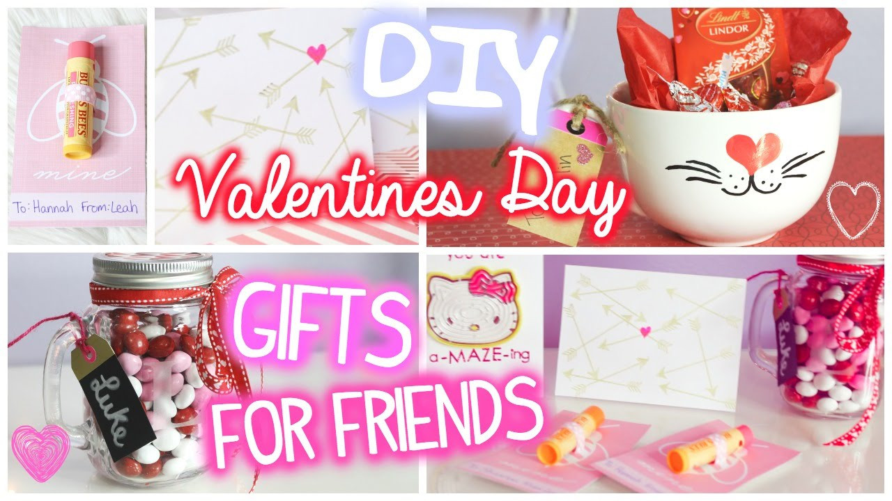 Valentine'S Day Gift Ideas For Friends  Valentines Day Gifts for Friends 5 DIY Ideas