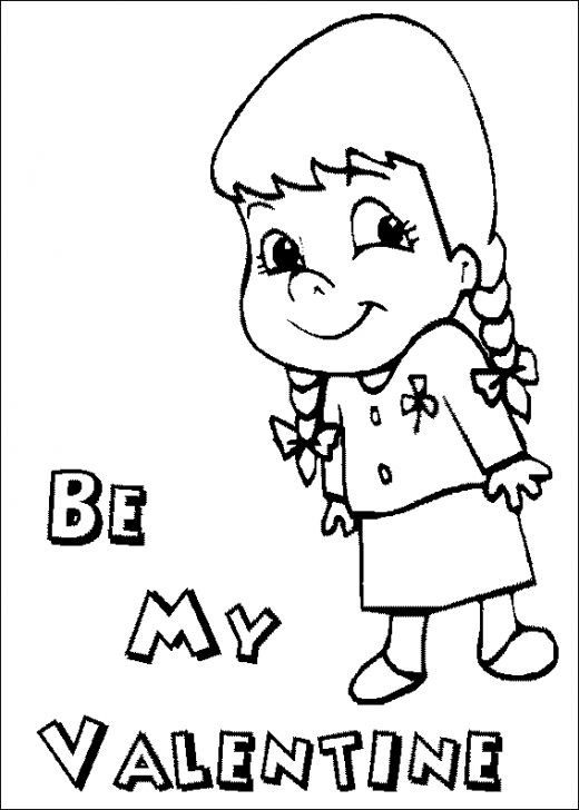 Best ideas about Valentines Coloring Sheets For Girls . Save or Pin Be My Valentine Coloring Pages For Girls Now.