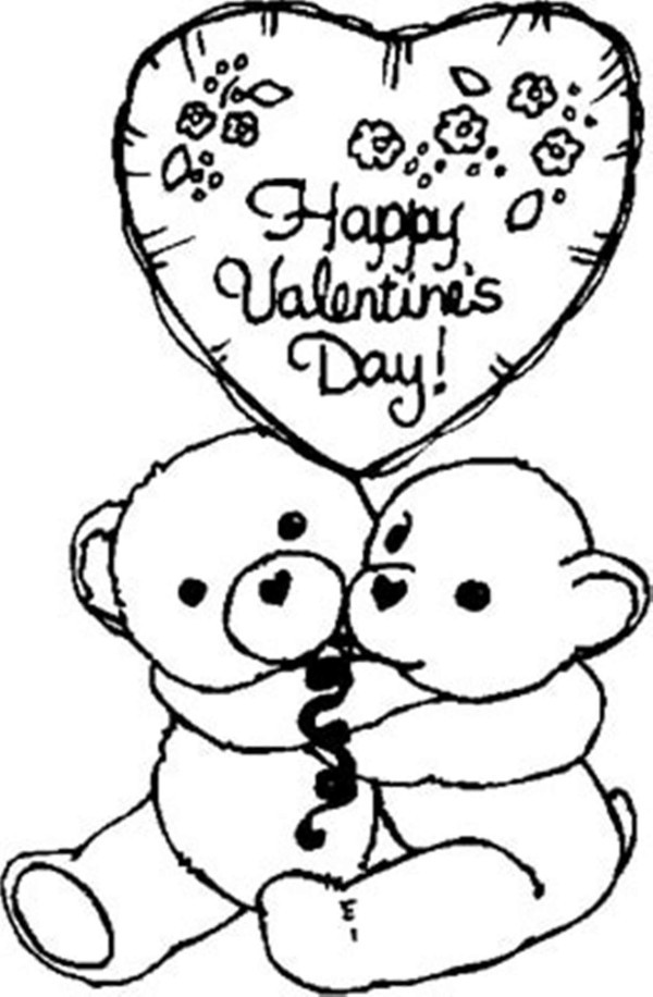 """Best ideas about Valentines Coloring Sheets For Girls . Save or Pin Dibujos para colorear de """"Happy Valentine´s Day Now."""