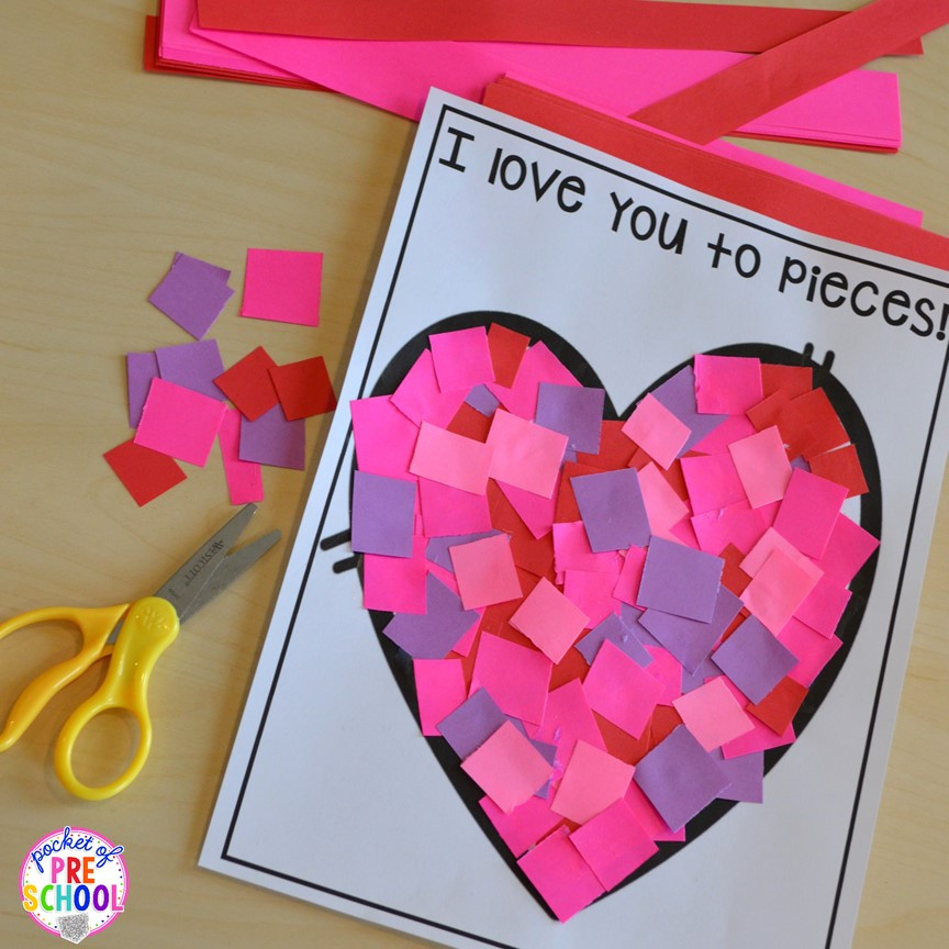 Best ideas about Valentines Craft Ideas For Preschoolers . Save or Pin Valentine s Day Themed Centers and Activities Pocket of Now.