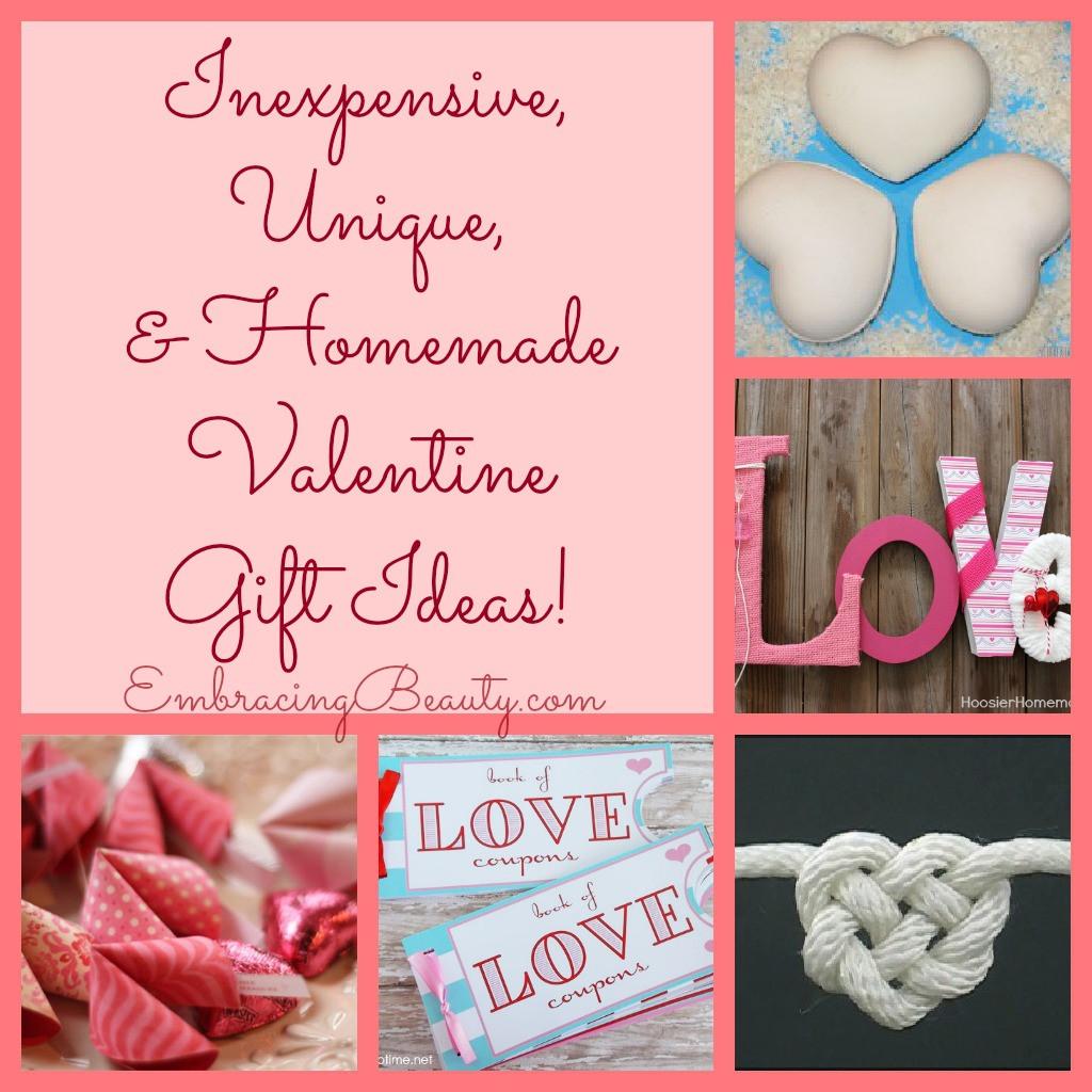 Valentines Creative Gift Ideas  Inexpensive Unique & Homemade Valentine Gift Ideas
