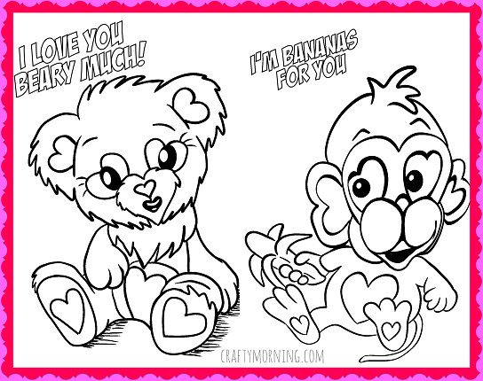 Valentines Day Coloring Pages Pdf  Free Printable Valentine s Day Coloring Pages Crafty Morning