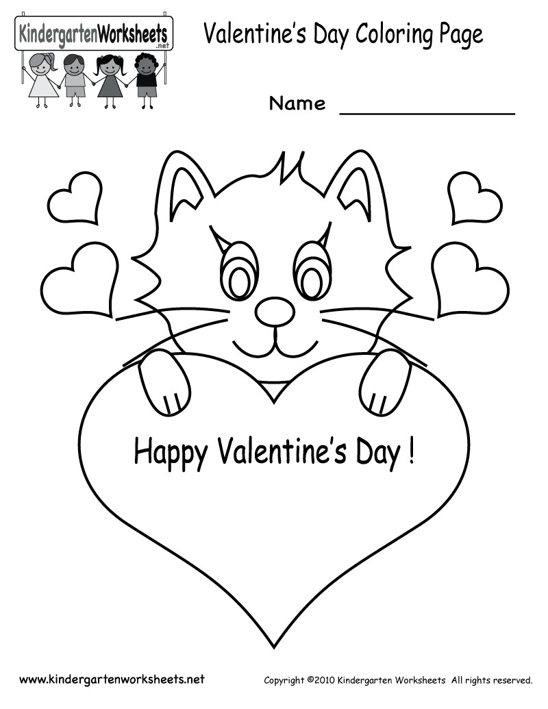 Valentines Day Coloring Pages Pdf  Valentine s Day Coloring Pages Free Kindergarten Holiday