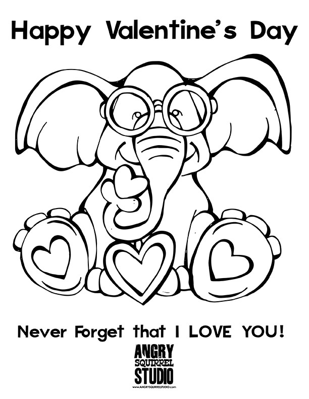 Valentines Day Coloring Pages Pdf  Happy Valentine's Day