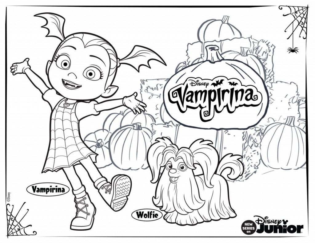 Vampirina Coloring Pages  10 Printable Disney Vampirina Coloring Pages