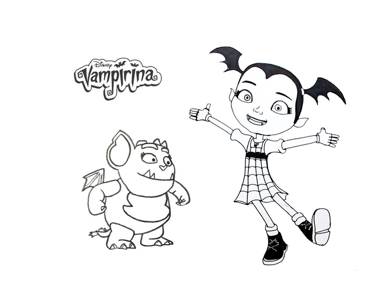 Vampirina Coloring Pages  Vampirina Coloring Book Free Printable Coloring Pages